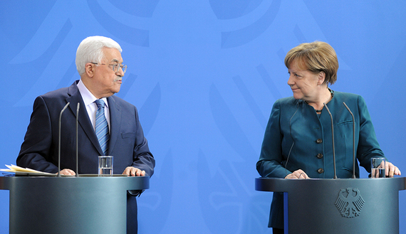 Abbas eyes Merkel as Plan B if Trump fails on Mideast peace