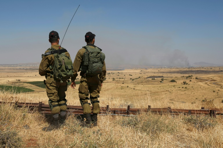 Israel strikes back at Syria for stray fire landing in Golan Heights