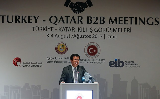 Turkey, Qatar, Iran to discuss land route alternatives amid Gulf spat, economy minister says
