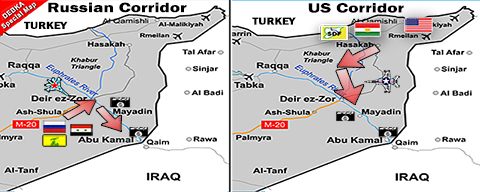 US-Russian pincer for ISIS in Euphrates Valley