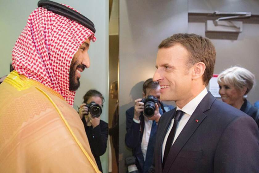 Crown Prince bin Salman, Macron discuss Iran perils in Middle East