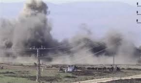 Watch: Mine field wiped out in explosion on Golan Heights