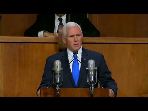 WATCH: VP Mike Pence's Amazing Speech Destroyed Palestinian Claims