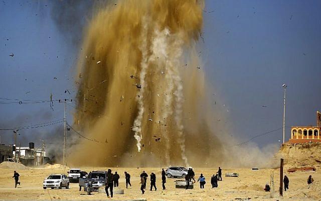 Israeli jets strike Hamas targets in Gaza after rocket launch