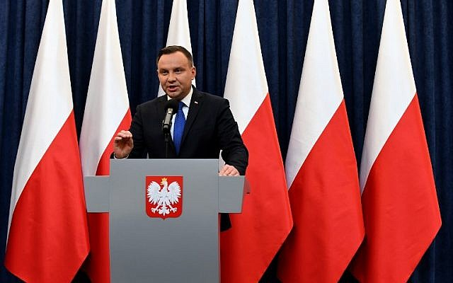 Polish president: Enforcing Holocaust law may be 'unrealistic'