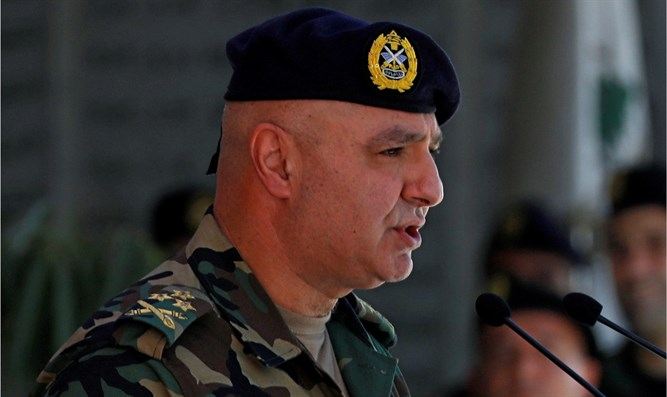 Lebanon's army chief vows to confront 'Israeli aggression'