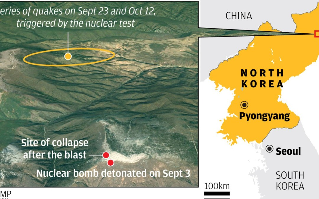 Image result for north korea nuclear test site collapse