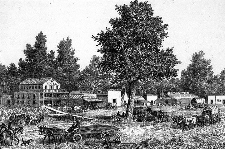 Sacramento City 1849 (image from www.geog.ucsb.edu)