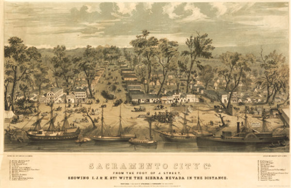 Sacramento 1850 (image from worldmapsonline.com)
