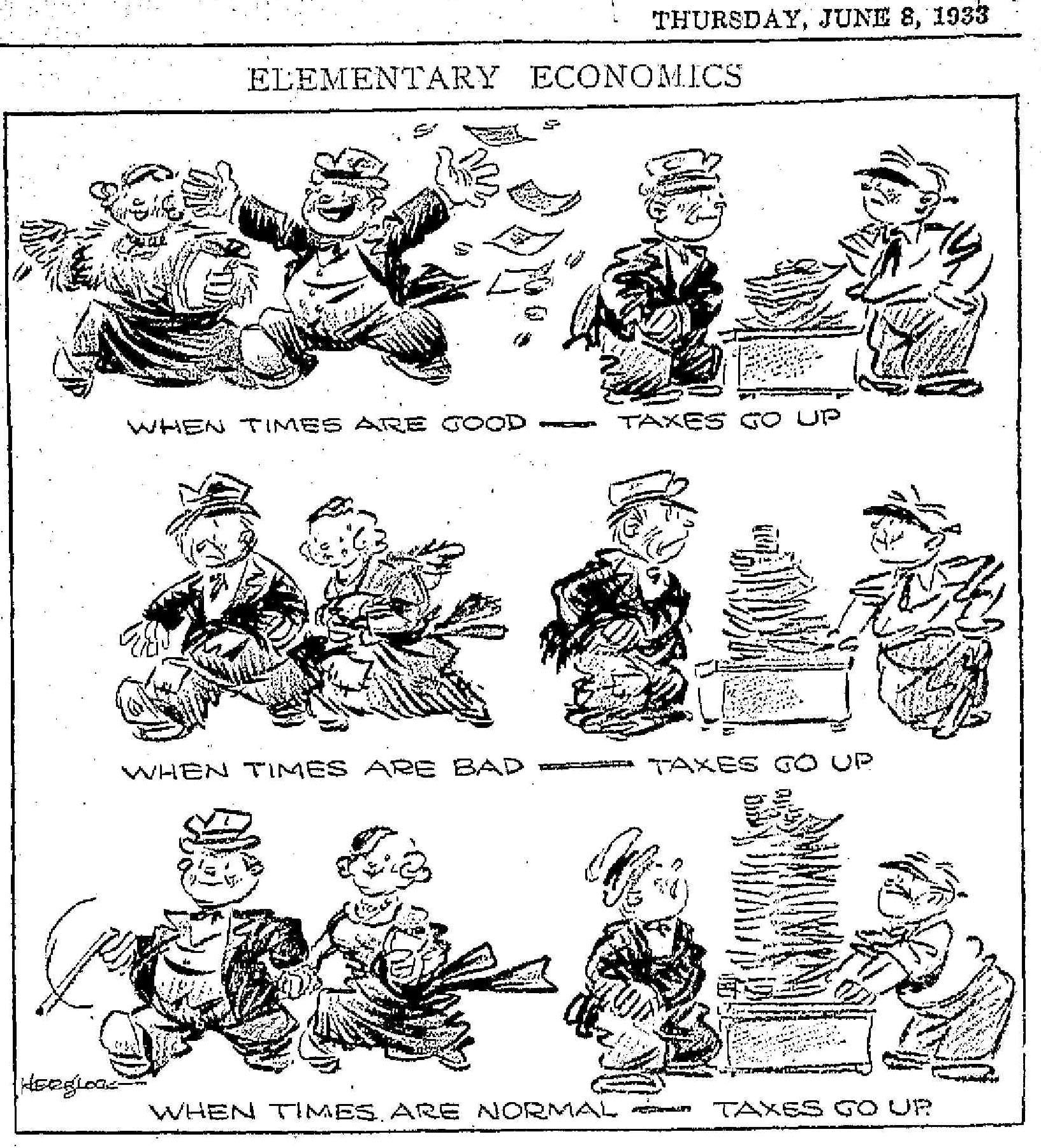taxes go up 1936