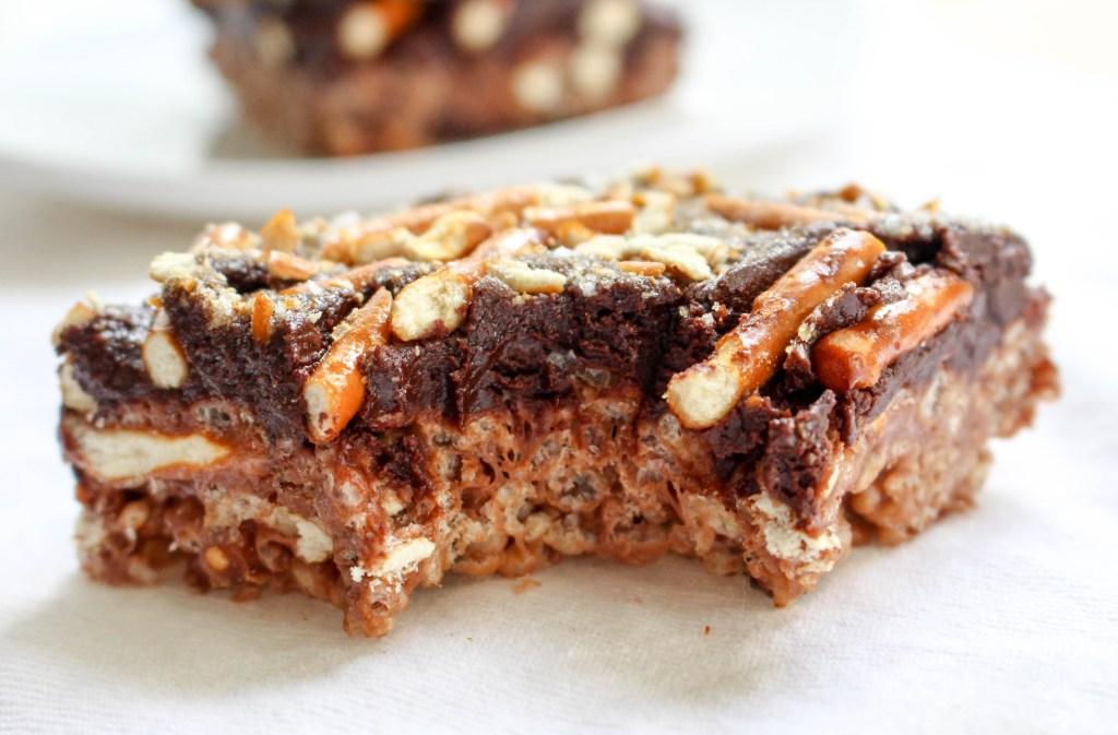 Nutella-Pretzel Cereal Treats | Yes to Yolks