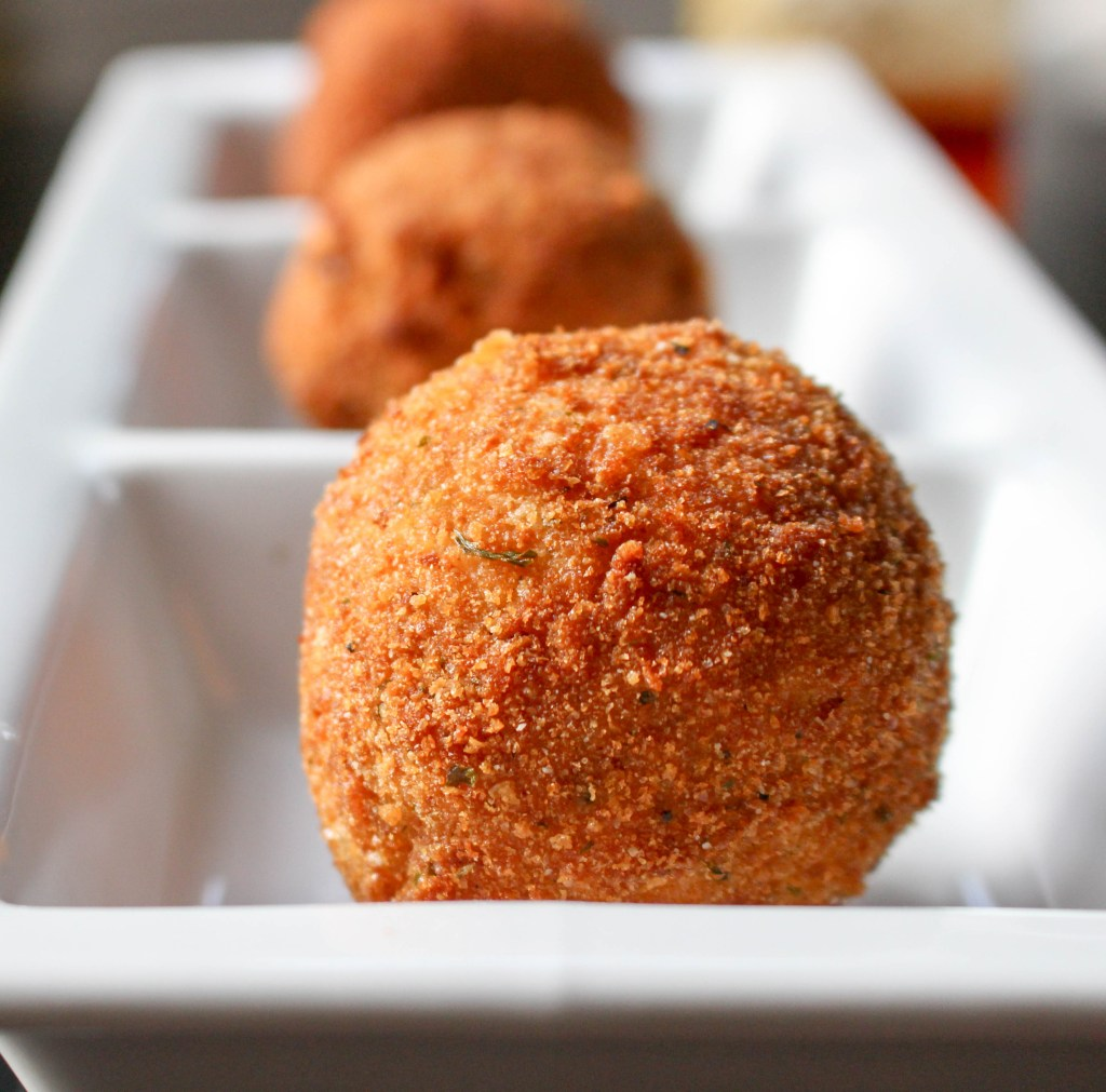 Smoked Mozzarella Arancini with Thyme & Truffle Honey | Yes to Yolks