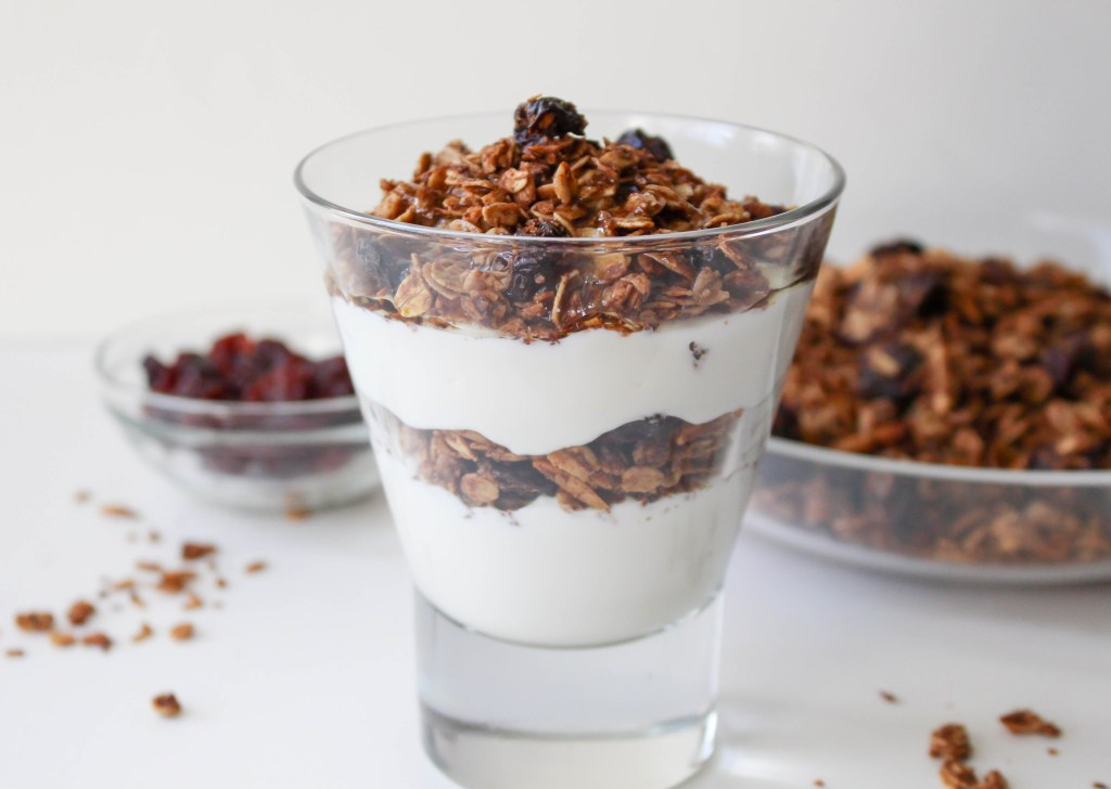 Low-Fat Cherry Almond Granola | Yes to Yolks
