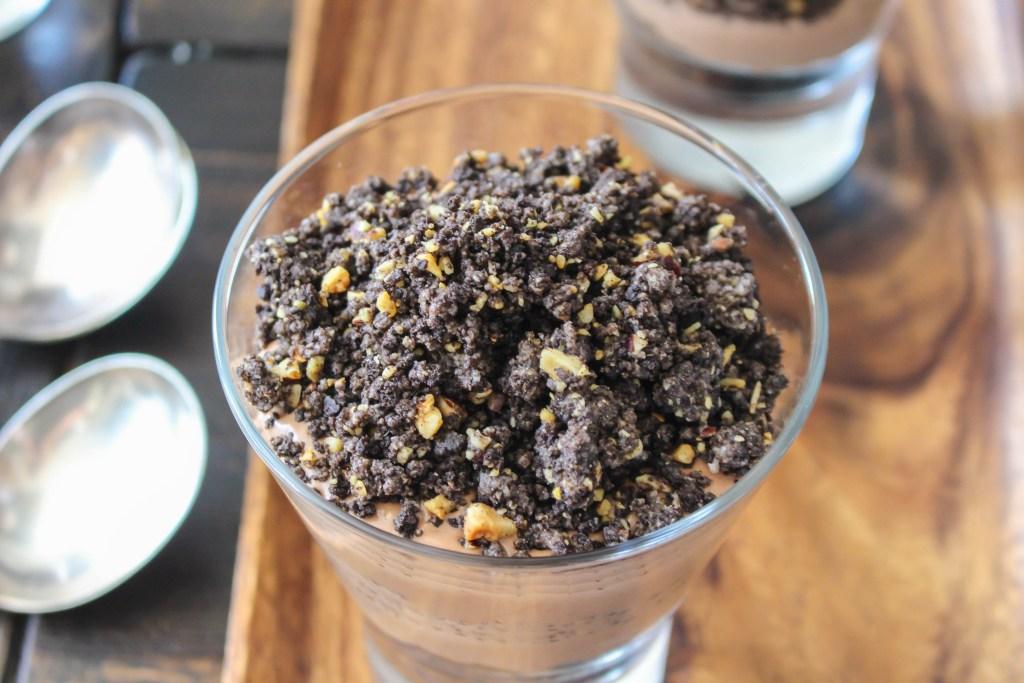 Nutella Mousse Parfaits with Oreo-Hazelnut Crumble | Yes to Yolks