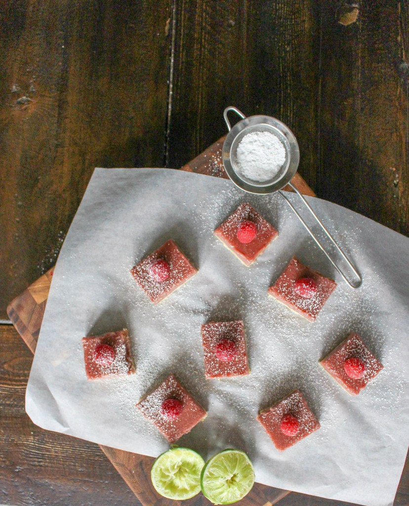 Raspberry Lime Bars | Yes to Yolks