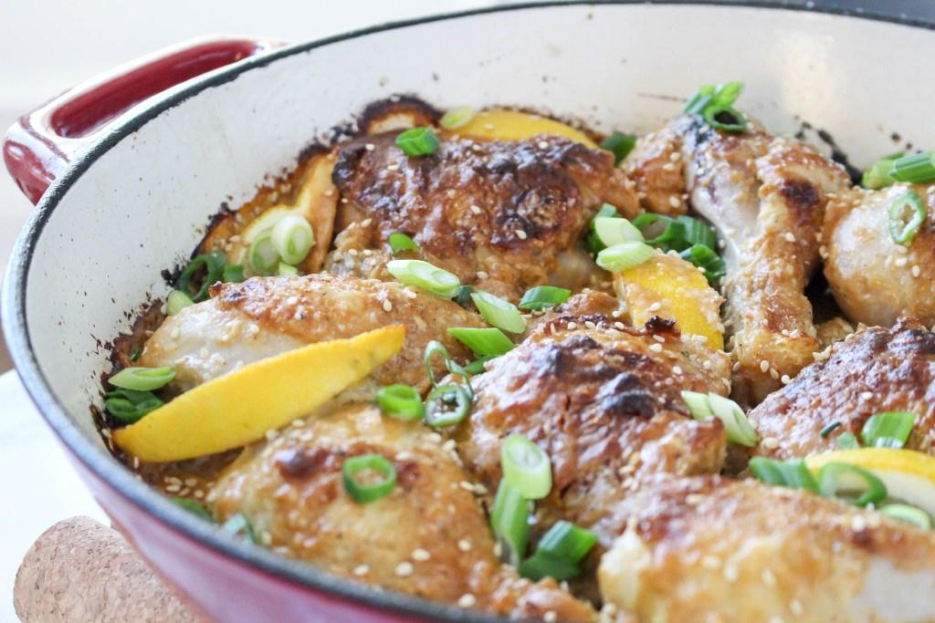 Spicy Sesame Roast Chicken | @yestoyolks.com