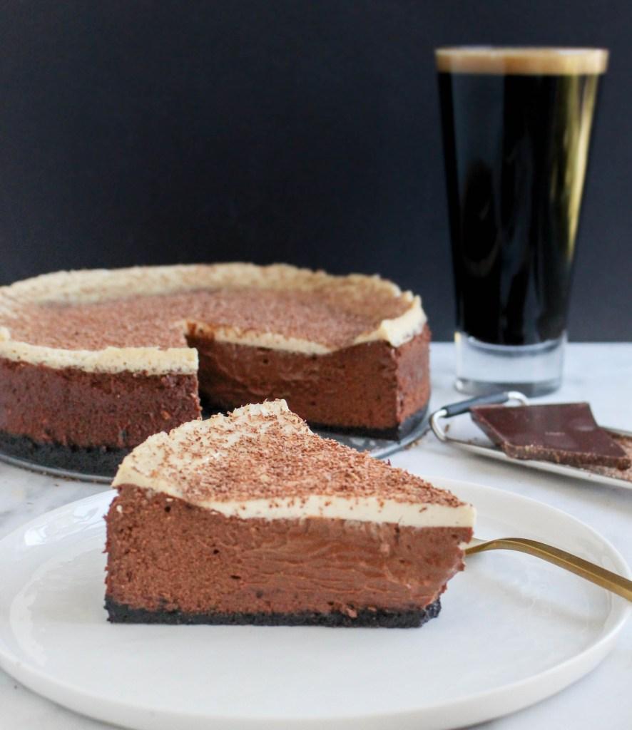 Irish Carbomb Chocolate Cheesecake | yestoyolks.com