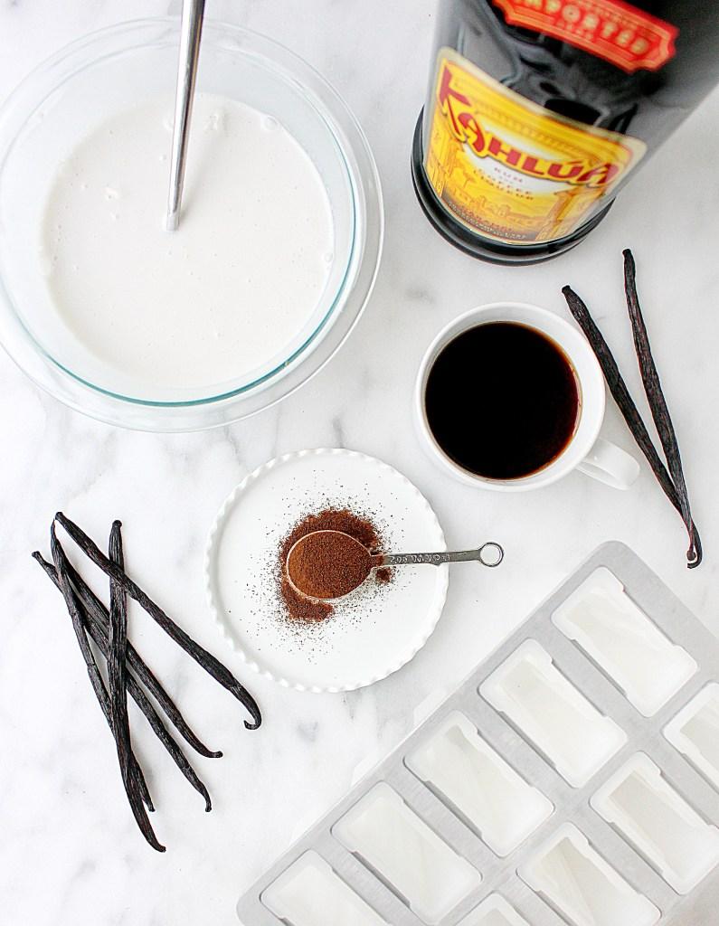 Kahlua Coconut Cream Affogato Popsicles | yestoyolks.com