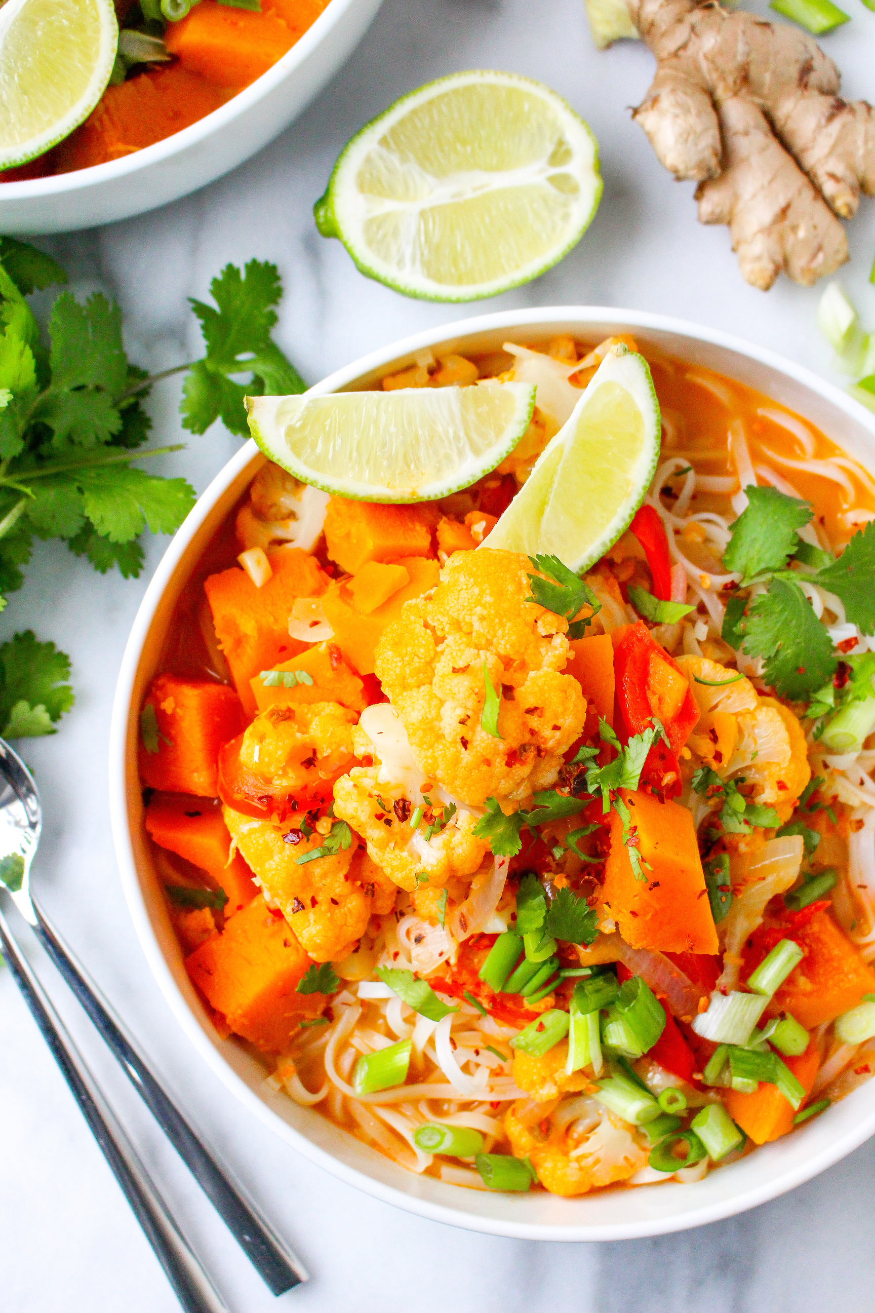 Butternut Squash & Cauliflower Coconut Curry {vegan + gluten free!}