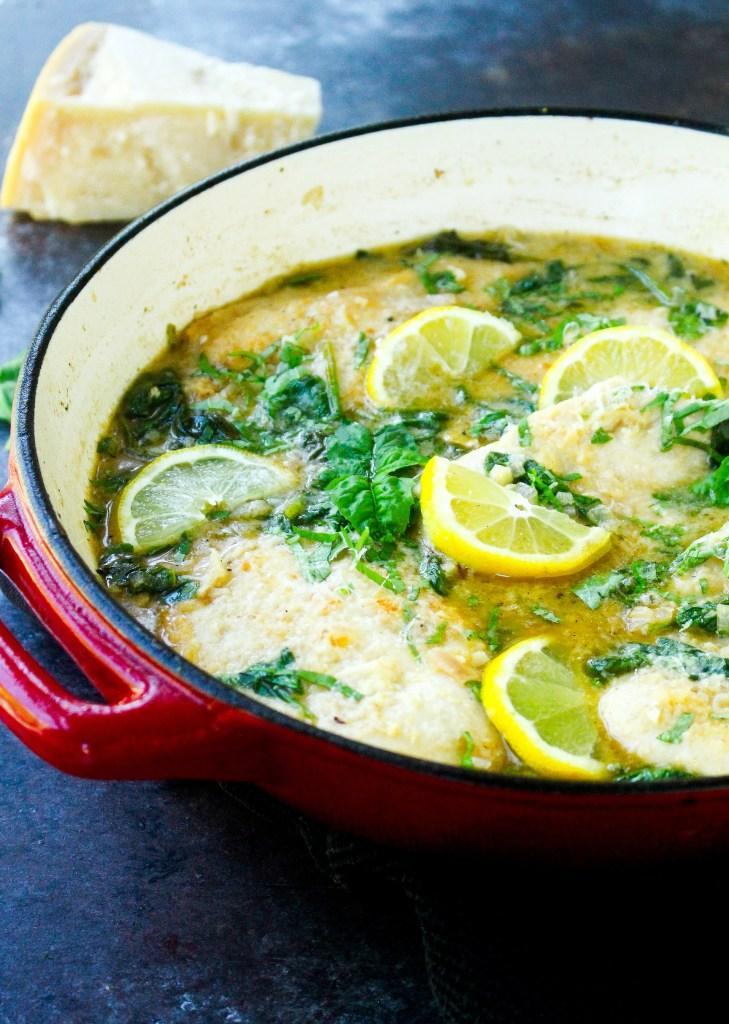 One-Pan Lemon Garlic Chicken with Greens