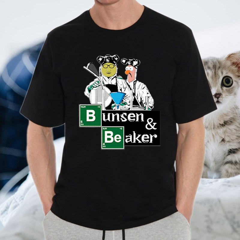 Bunsen and Beaker Breaking T-shirts