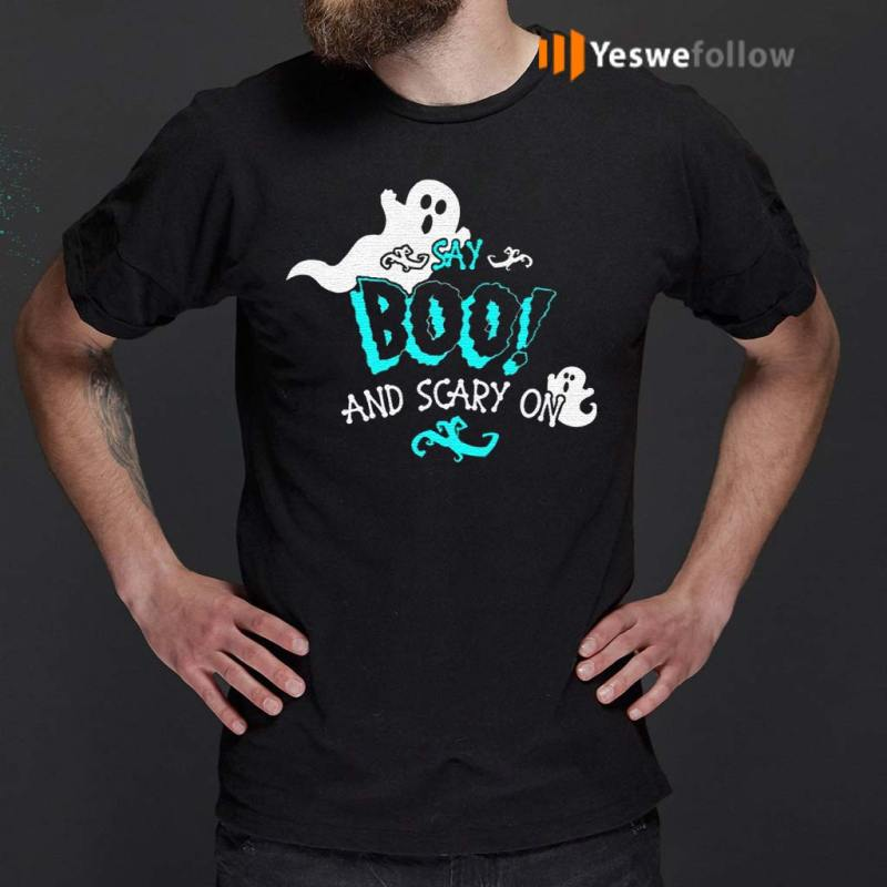 Halloween-Say-Boo-And-Scary-On-Shirts