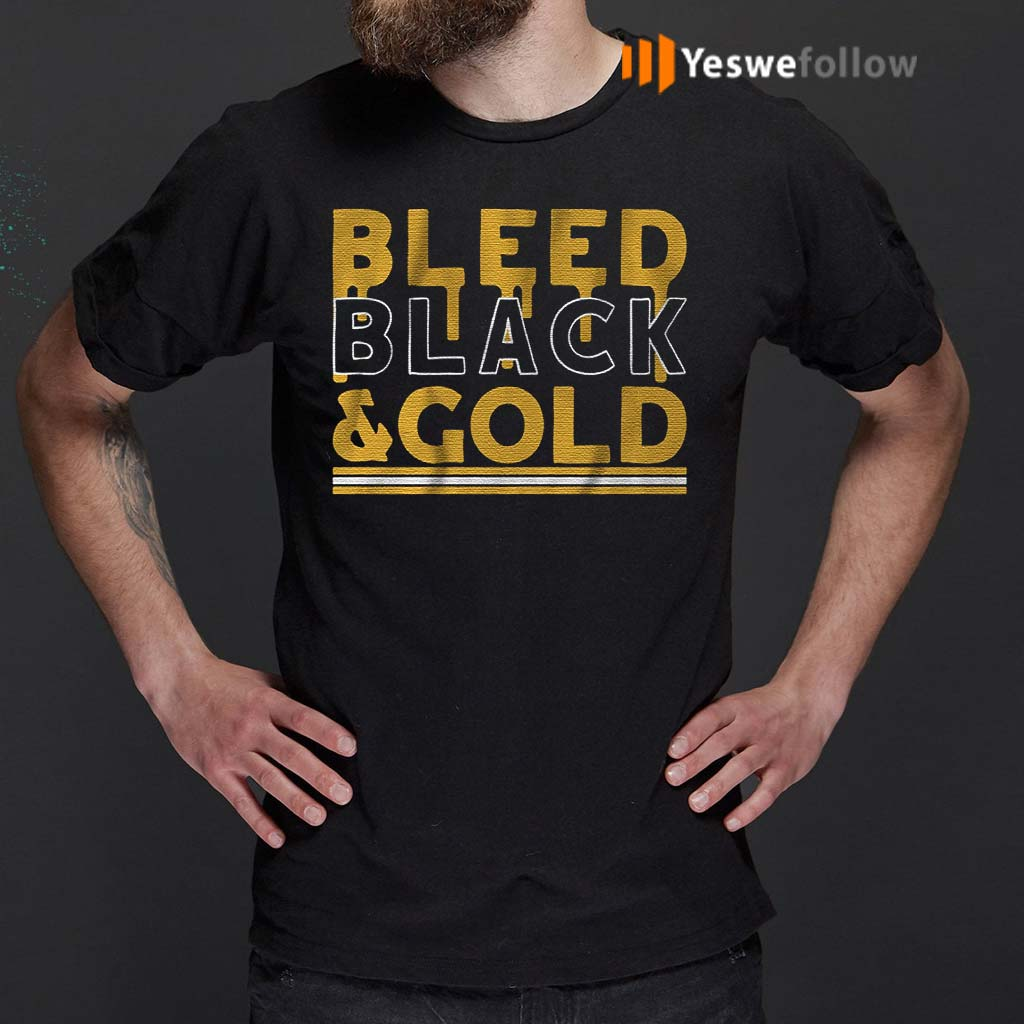 bleed-black-and-gold-t-shirts