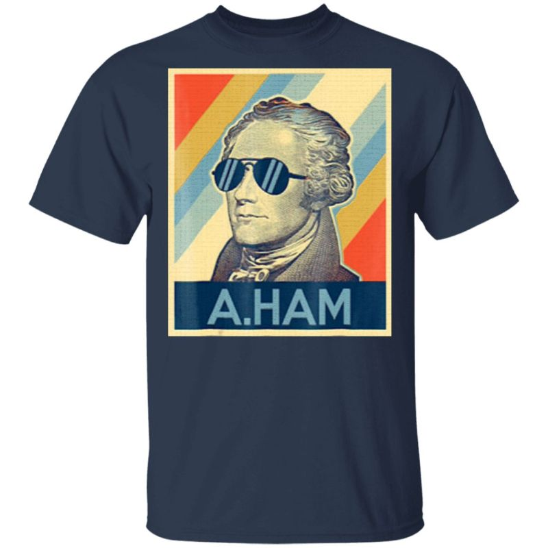 hamilton wearing sunglasses art T-shirt