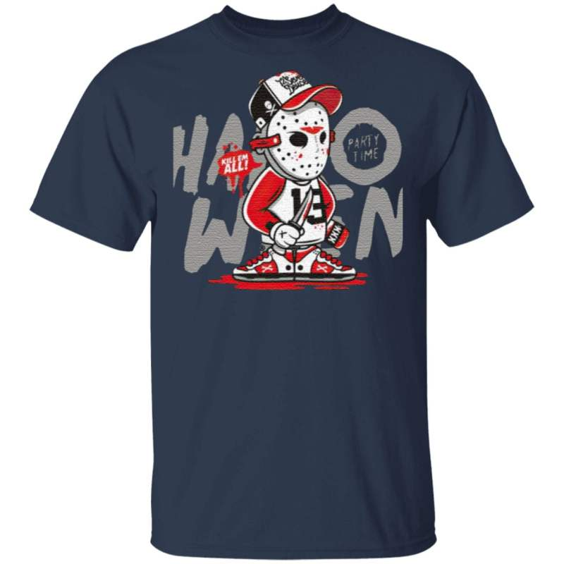 Halloween Party Jason Voorhees Time Kill Them All T-Shirt