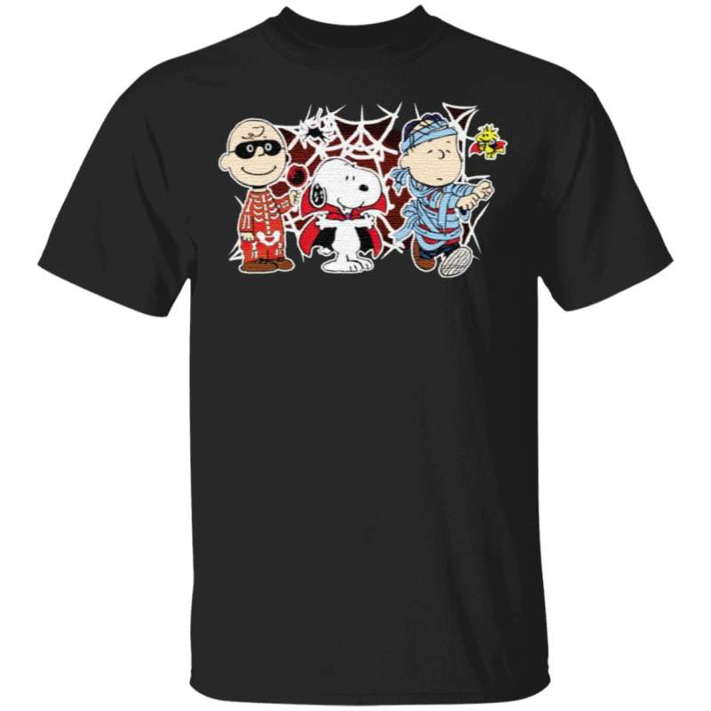 Charlie Woodstock Linus Snoopy Halloween Night Costumes T-Shirt
