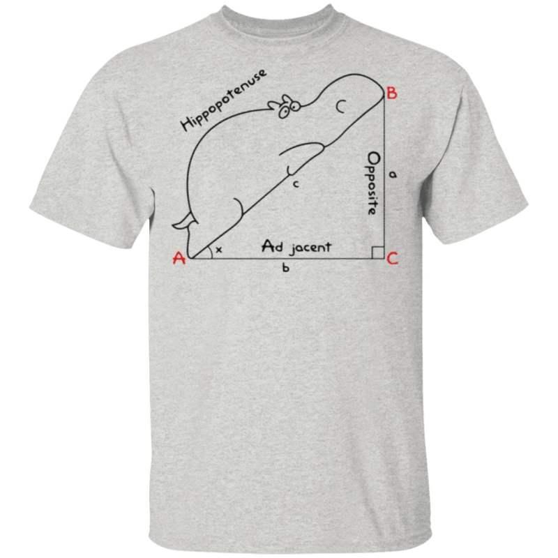 Hippopotenuse Math Geometry T Shirt