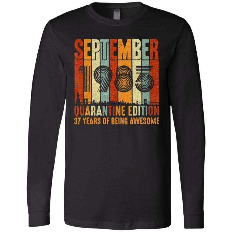 Quarantine Edition Vintage September 1983 37Th Classic T-Shirt