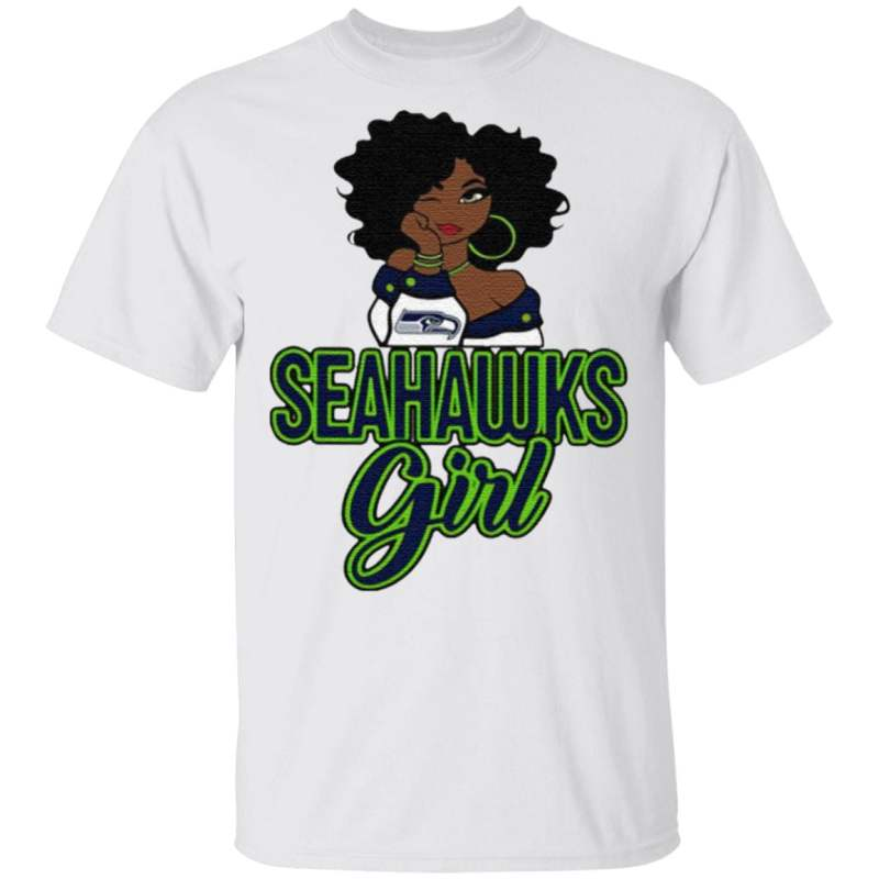 Black Girl Seattle Seahawks T Shirt
