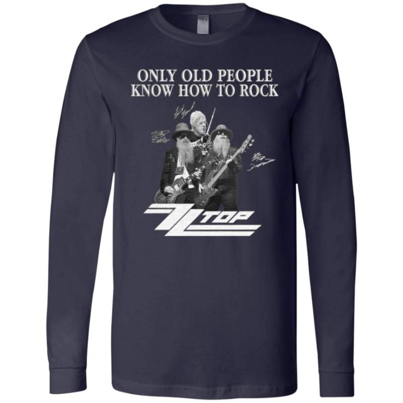 ZZ Top Only Old People Know How To Rock Signature T-Shirt