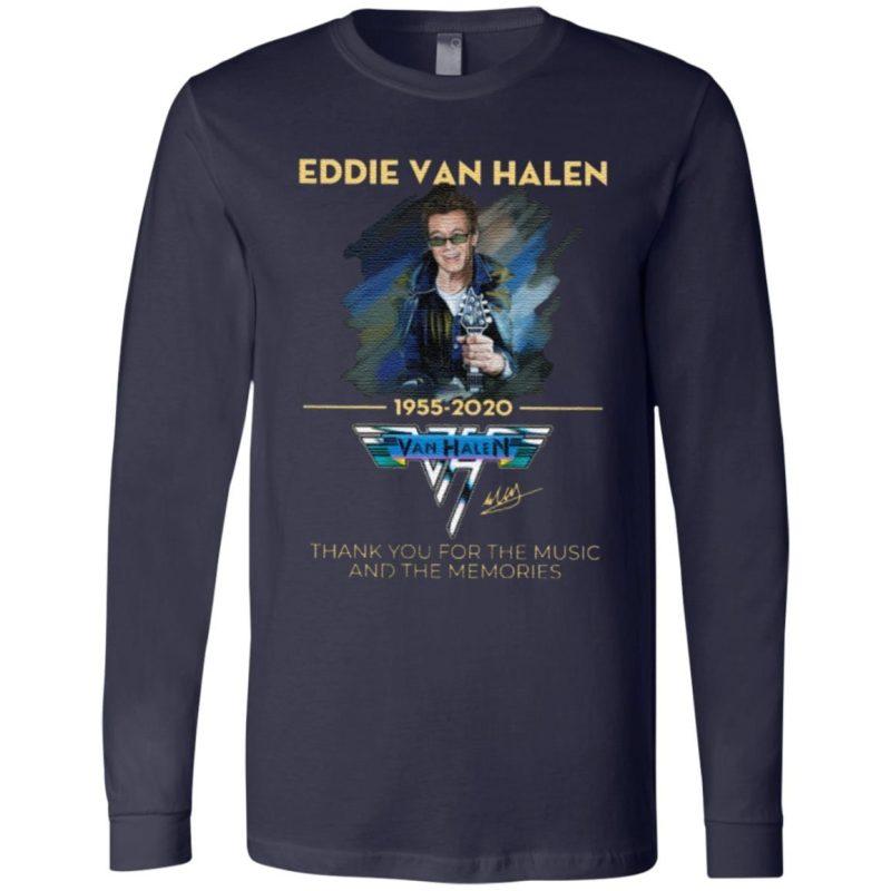 Eddie Van Halen Thank You For The Memories 1955-2020 T Shirt