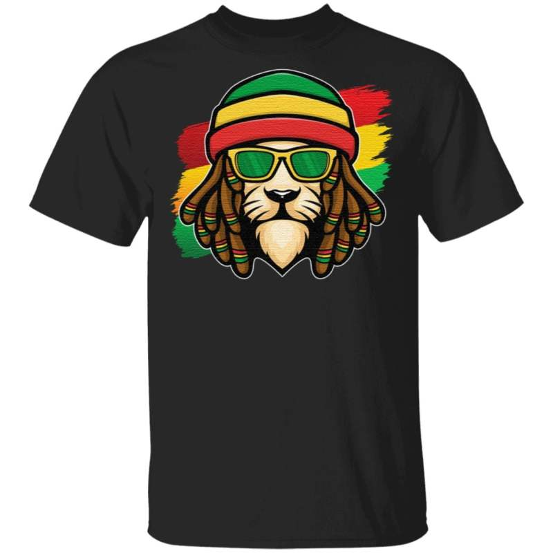 Roots Reggae Music Rasta Lion T Shirt