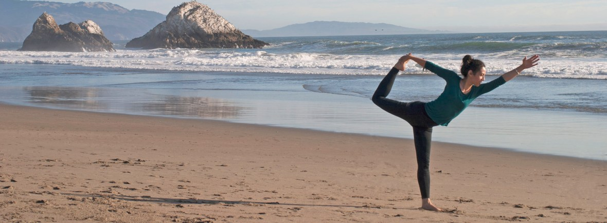 Natarajasana beach dancer pose yes yoga be well