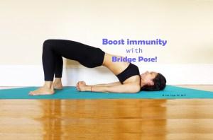 Yoga for immunity winter Bridge pose