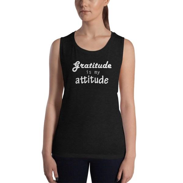 gratitude is my attitude yoga tank