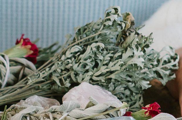 Dried Mugwort bundle