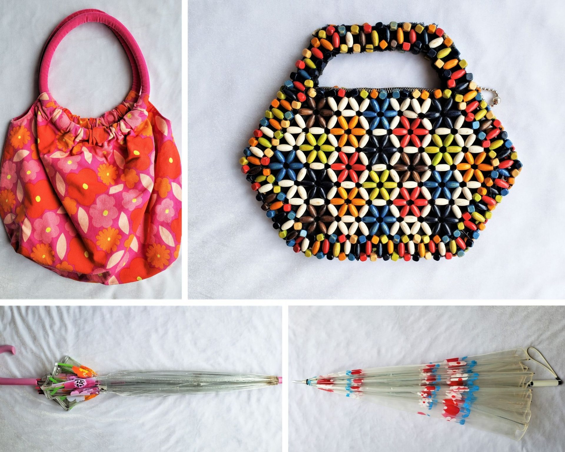 1960s Purse and Umbrella Collage