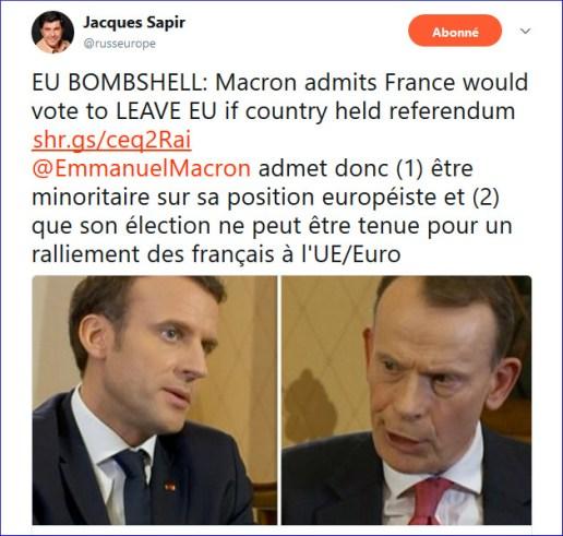 Sapir EU bombshell