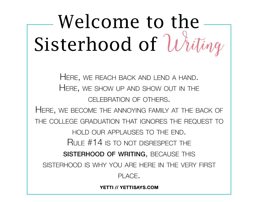 sisterhoodwriting