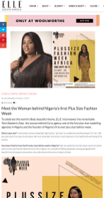 Meet the Woman behind Nigeria s first Plus Size Fashion Week Elle South Africa