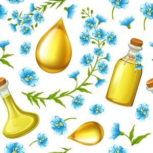 L'huile de lin pour les yeux secs