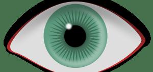 Lentille verte pour les yeux