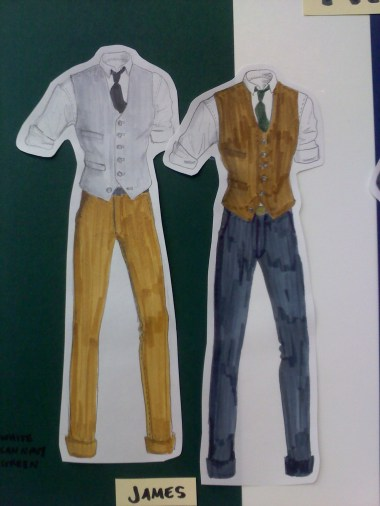 Example of menswear fashion illustration
