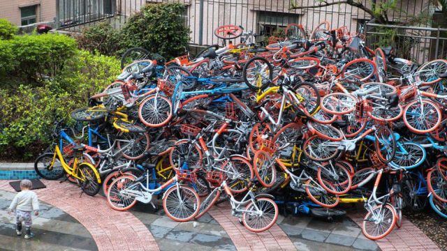 Pile Of Share Bikes