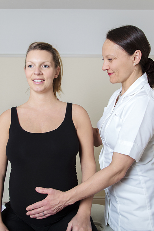 treatment of a pregnant woman