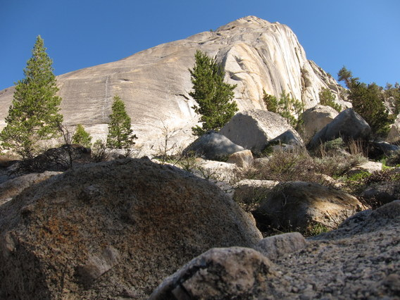 Morning Light on the Back Side of Pywiack Dome, Yosemite National Park